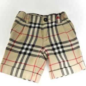 BURBERRY Beige Nova Check Wool Blend Shorts